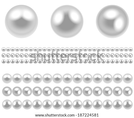 Illustration pearl isolated on white background. Vector.  - stock vector