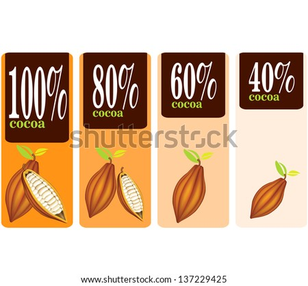 Illustration - Percent Cocoa Seal - stock vector