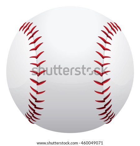 Illustration represents a baseball or softball. Ideal for sports material and institutional - stock vector