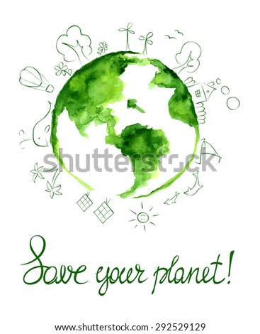 Illustration -- Save your planet