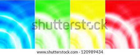 Illustration set of abstract backgrounds with  effect - vector