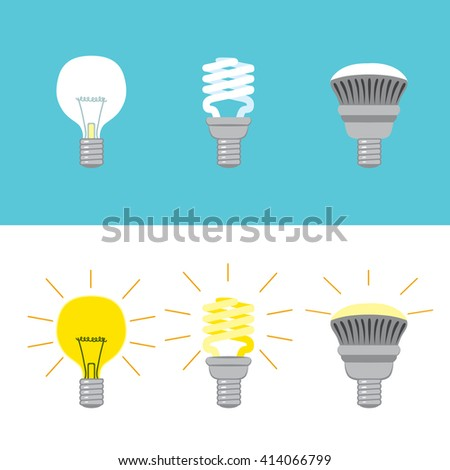 Illustration showing the evolution of light bulb through history