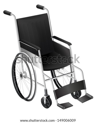 Illustration showing the wheelchair - stock vector
