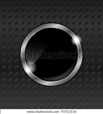 Illustration speech bubbles on titanium background - vector - stock vector