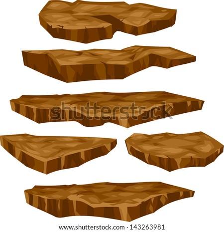 illustration  stone set - stock vector