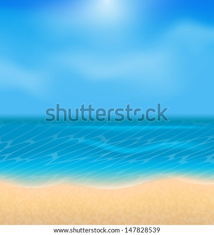 Illustration summer holiday background with sunlight - vector