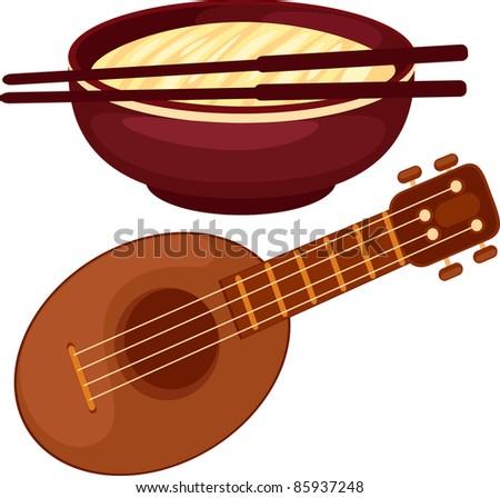 illustration ukulele - stock vector