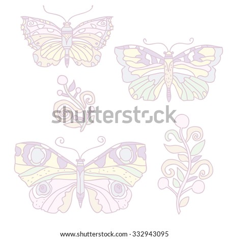 illustration; vector; butterfly; design; figure, decoratiove