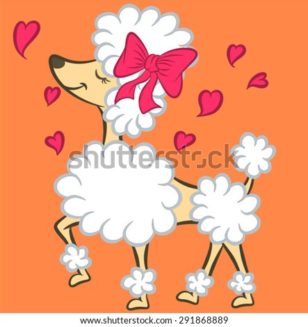 Illustration vector French Poodle - stock vector