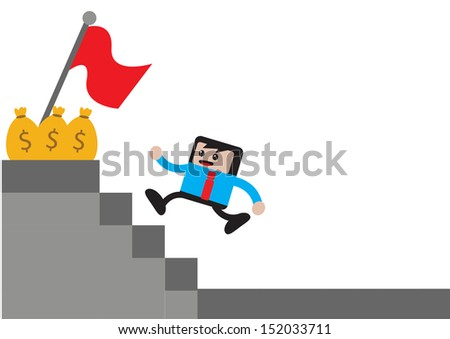 illustration vector graphic of businessman cartoon character in activity