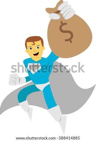 Illustration vector graphic of super hero - stock vector