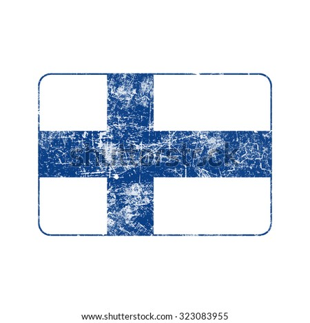 illustration vector grunge stamp flag of Finland country - stock vector