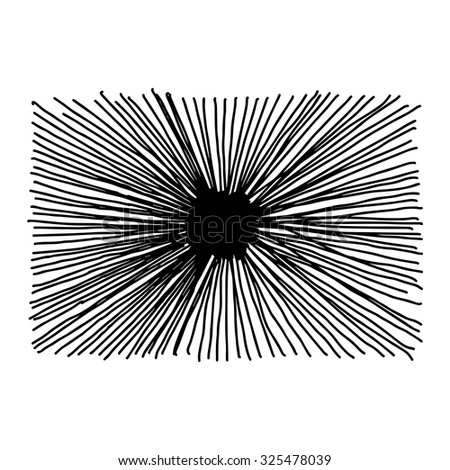 illustration vector hand drawn doodle of starburst isolated on white background