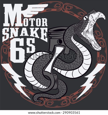 Illustration vector motorcycle emblem