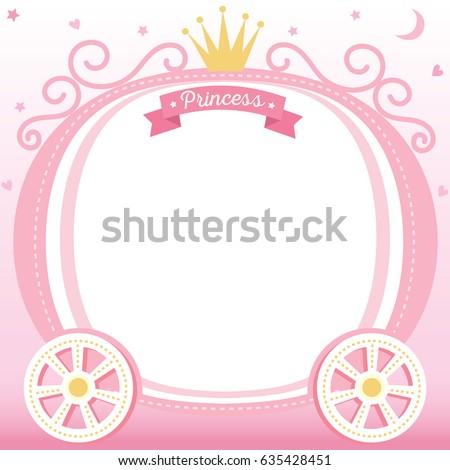 Illustration Vector Cute Princess Cart Decorated Stock Vector ...