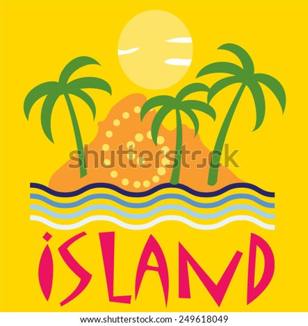 Illustration vector of island