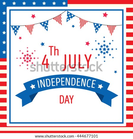 Illustration vector 4 th of july independence day of american holiday greeting card background.