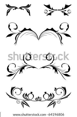 Illustration vintage borders, design elements - vector - stock vector