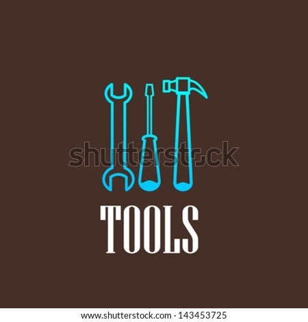 illustration with a tool set - stock vector