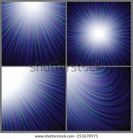 Illustration  with abstract blue wave  background. Graphic Design Useful For Your Design. Vintage rays background texture design on border. - stock vector