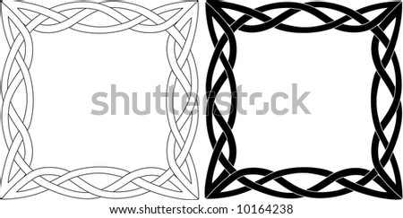 illustration with black and white ornament.vector illustration. - stock vector