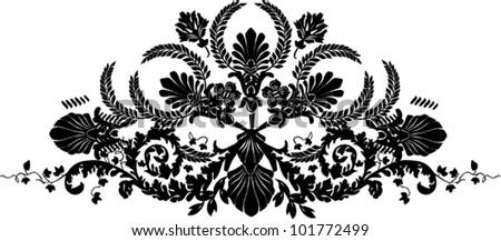 illustration with black stripe isolated on white background - stock vector