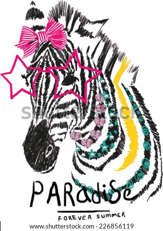 illustration zebra - stock vector