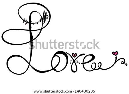 illustrations, decoration, vector, love, design, swirl, ornate, shape, heart, valentine's - stock vector