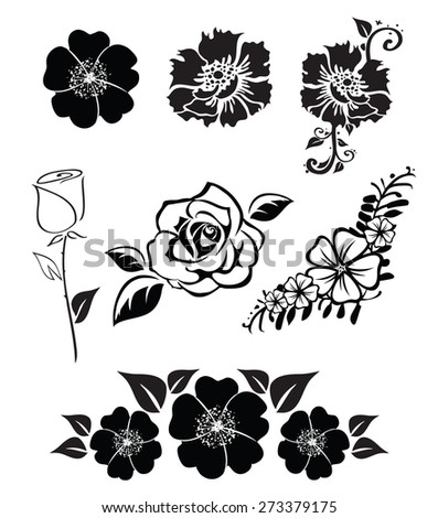 Illustrations of a flowers - stock vector