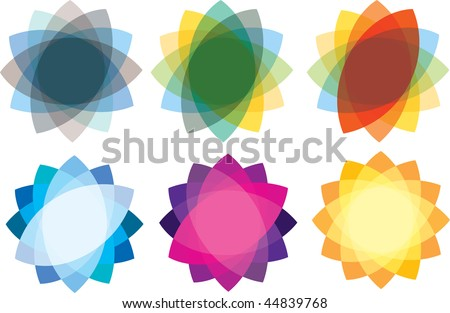 illustrations of colour logo marks and symbols - stock vector
