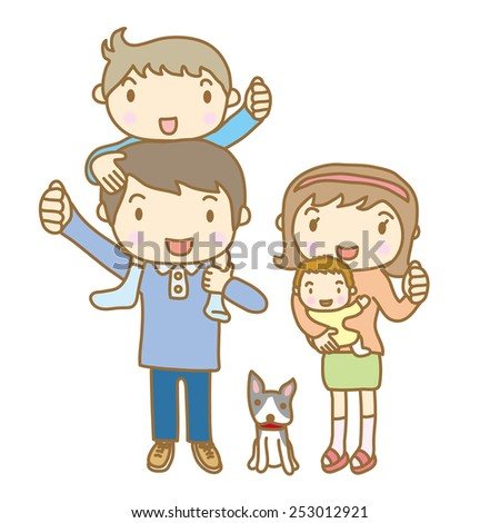Illustrations of good friends family - stock vector