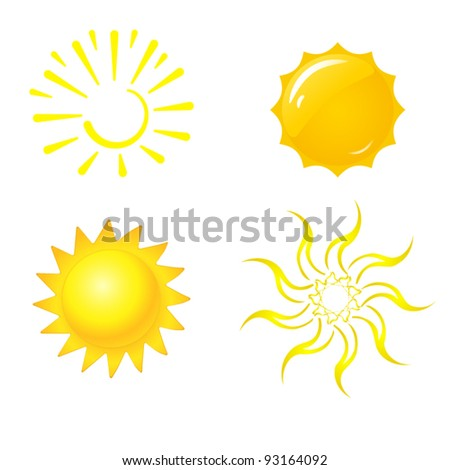 Illustrations of sun - stock vector