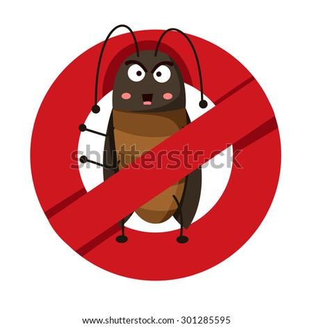 Illustrator of anti  cockroach - stock vector