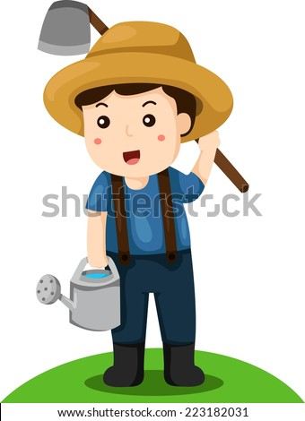 Illustrator of farmer - stock vector