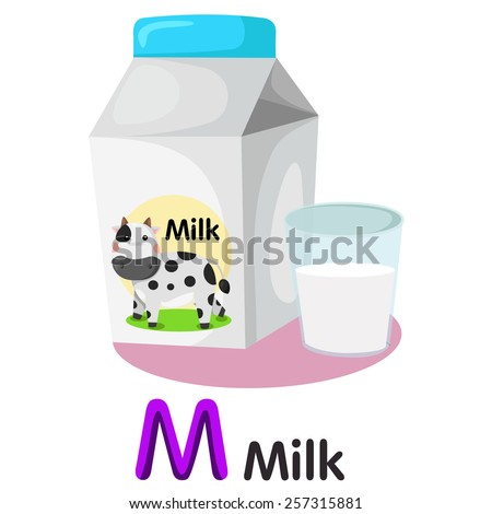 Drink With Letter M On Bottle