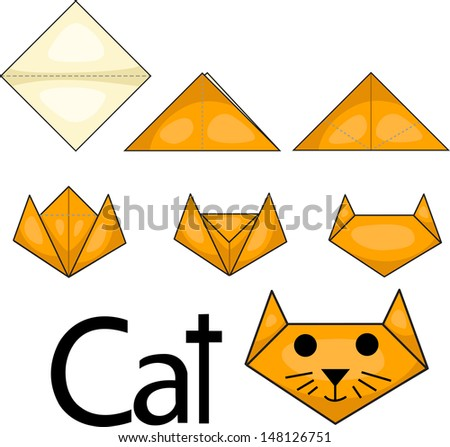 origami cat stock images royaltyfree images amp vectors