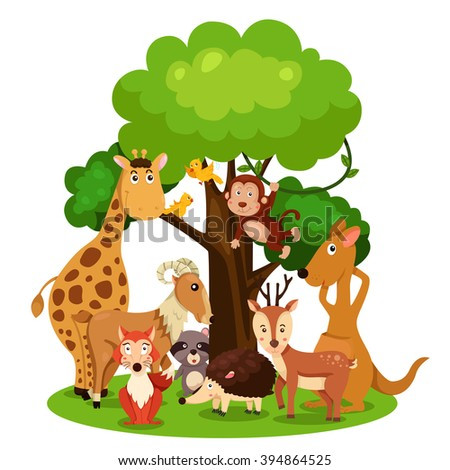 Illustrator of zoo animal - stock vector