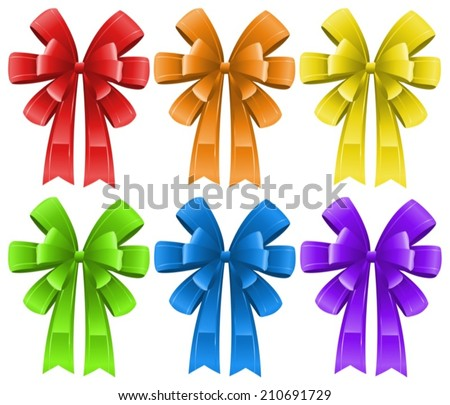 Ilustration of a set of ribbons