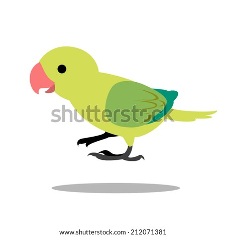 image graphic style of bird  isolated on white background - stock vector