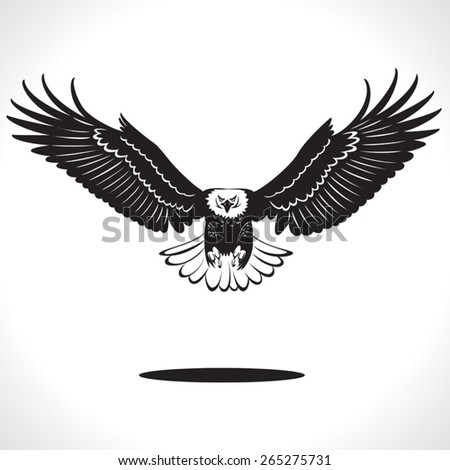 image graphic style of eagle  isolated on white background