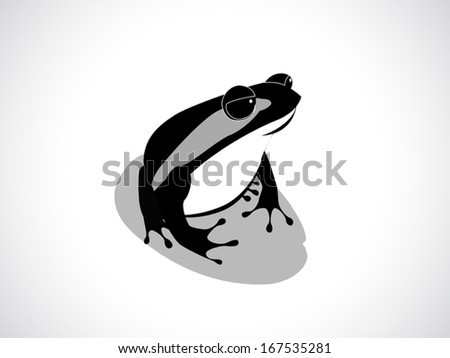 image graphic style of frog isolated on white background - stock vector
