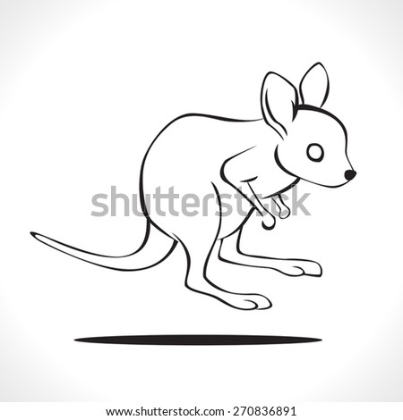 image graphic style of kangaroo  isolated on white background - stock vector