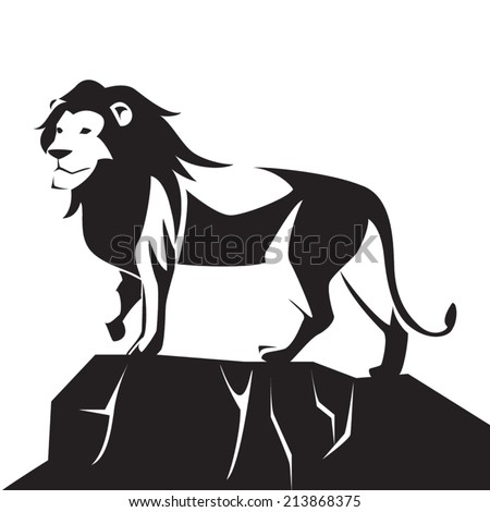 image graphic style of lion  isolated on white background - stock vector