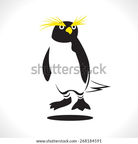 image graphic style of penguin  isolated on white background - stock vector