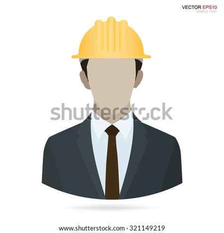 Image icon of architect or engineer profile picture. Vector human avatar symbol. - stock vector