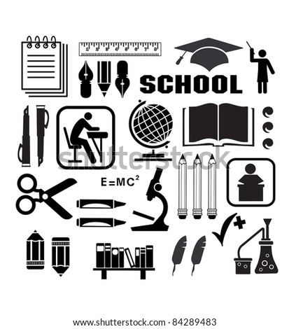 Image objects that are relevant to school