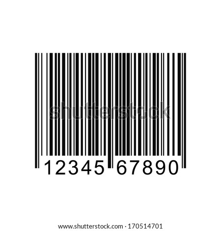 Image of a barcode isolated on a white background. - stock vector