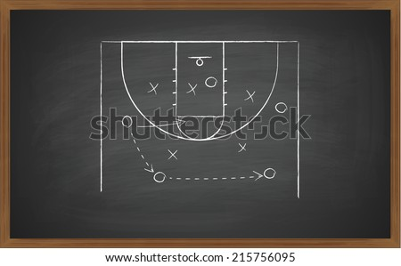 image of a basketball court on board. Transparency effects used.  - stock vector