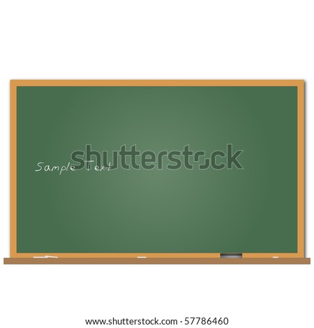 Image of a chalkboard with sample text. - stock vector