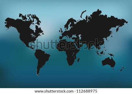 Image of a colorful world map vector illustration. - stock vector